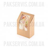 Упаковка для тортильи, ролла Крафт 130х90х50мм 25шт. 1/500, фото 1