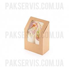 Упаковка для тортильи, ролла Крафт 130х90х50мм 25шт. 1/500