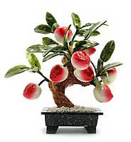 Дерево персик (8 плодов) (20х15х8см)