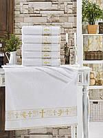 Крыжма махровая для крещения с золотой вышивкой Zeron 70х140 (1шт) 600г/м2 Турция