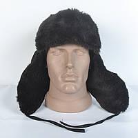 Чоловіча шапка- вушанка з штучного хутра мутона 52456b41f9f15