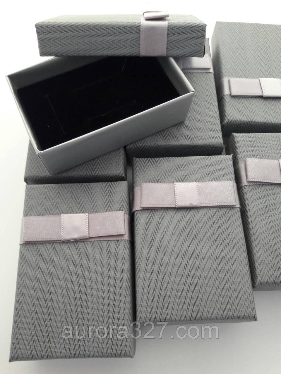 """Коробочка подарочная картонная """"Италия"""" Серый 5х8см"""