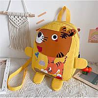 Детский рюкзак, желтый. Озорной тигренок. ( без поводка )