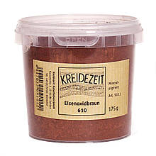 Натуральный пигмент, Оксид Железа Коричневый, Eisenoxidbraun 610, Pigmente, Kreidezeit
