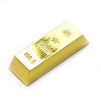 Золотой слиток 7,5х2,5х1,5см (26401)