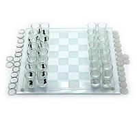 Игровой набор Шахматы с рюмками,шашки,карты 35х35х6,5см (19294)