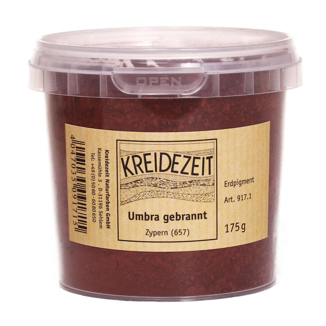 Натуральный пигмент, Умбра Жженая, Umbra Gebrannt, Pigmente, Kreidezeit