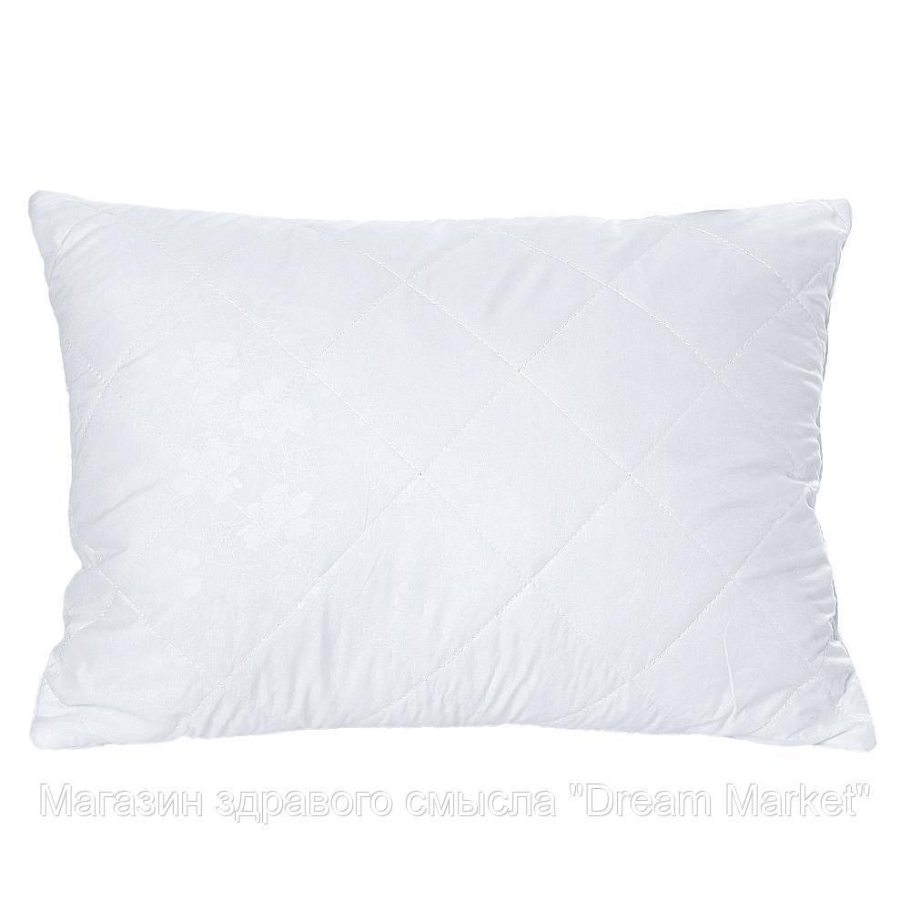 Подушка Гипоаллергенная Белоснежка: микрофибра и силиконовый наполнитель, средней жесткости, HoReCa 40х40 см