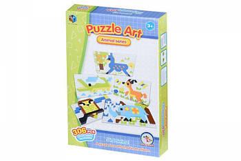 Детские обучающие пазлы-мозаика Same Toy Puzzle Art Animal serias 306деталей (5991-6Ut)