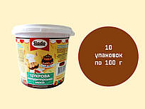 Цукрова паста-мастика 100 г, коричнева