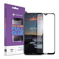 Стекло защитное MakeFuture Nokia 5.3 Full Cover Full Glue (MGF-N53)
