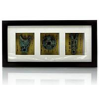 "Картина ""Древне-Китайские монеты"" 36,5х18,5х3см (19403)"