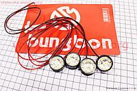Светодиодные маячки 4 штуки белый свет