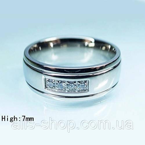 Обручальное кольцо с камушками 18 размер покрытие родием  продажа ... 928bbfd9166