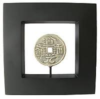 """Картина с бронзовой фигурой """"Монета"""" 20x20 (19044)"""