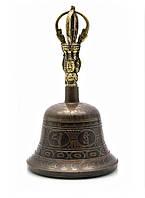 Тибетский колокол бронзовый d-11,5,h-19см (23494)