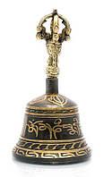 Тибетский колокол бронзовый d-8 h-14см (23506)