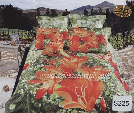 Комплект постельного белья  ELWAY сатин 3D 225, фото 2