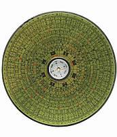 Компас деревянный круглый 14см (19887)