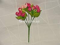 Искусственный  букет английской розы-нов (цвет розовый)