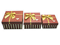 Коробки упаковочные набор 3шт 19х19х9,5 17х17х8 15х15х6,5см (27878)