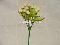 Искусственный  букет английской розы-нов (цвет кремовый)