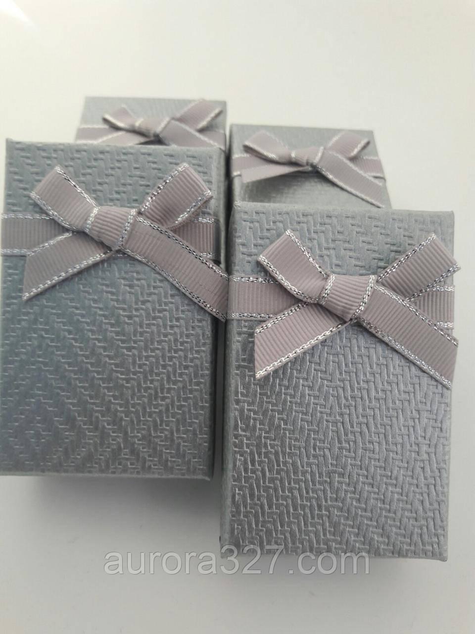 """Коробочка подарочная картонная """"Плетенка"""" Серый 5х8х3см"""