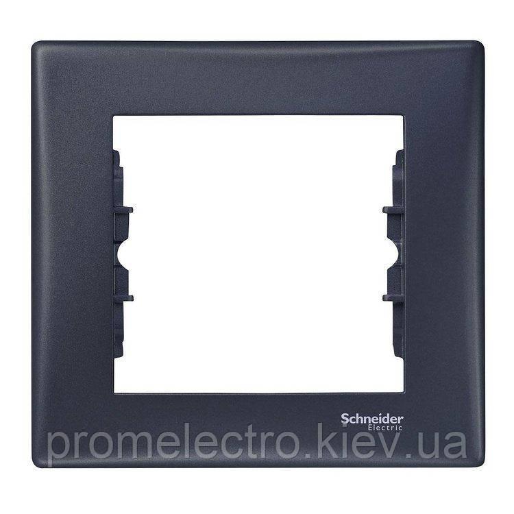 Рамка Schneider-Electric Sedna 1-пост графит (SDN5800170)