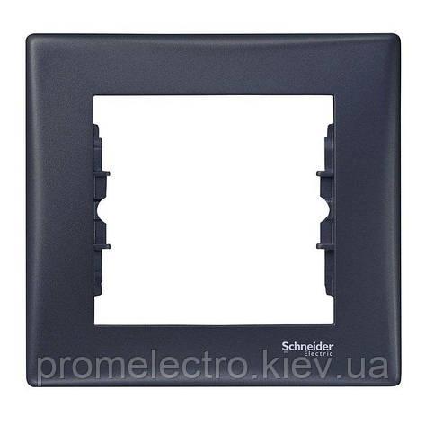 Рамка Schneider-Electric Sedna 1-пост графит (SDN5800170), фото 2