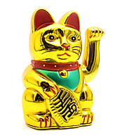 Кошка Манэки-нэко машущая лапой 12,5х7,5х6,5см пластик (23976)