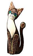 Кошка сидящая деревянная (30х11х4см)
