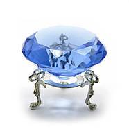 Кристалл хрустальный на подставке синий 6см (20380)