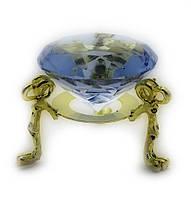Кристалл хрустальный на подставке фиолетовый 4см (18170)