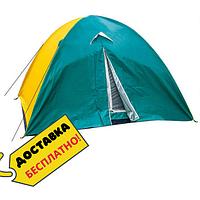 Палатка туристическая для рыбалки 3 местная с тентом ПалаткауниверсальнаяZelart Голубой-желтый (СПО SY-029)