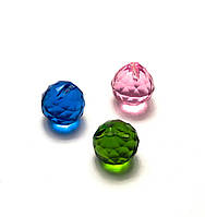 Кристалл хрустальный подвесной цветной (2см)