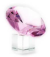 Кристалл хрустальный розовый 10см (21350)