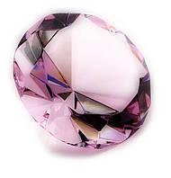 Кристалл хрустальный розовый 8см (21335)