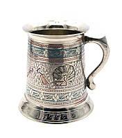 Кружка бронзовая цветная12х11х11см (25947)
