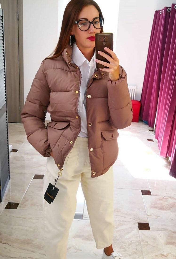 Куртка женская зимняя плащевка+холофайбер, четыре цвета