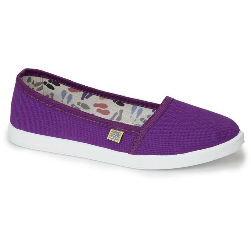 Эспадрильи (балетки) хлопок OLDCOM женские CANVAS фиолетовые