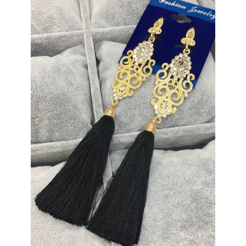 """Вечірні сережки з камінчиками """"Fashion Jewerly"""""""