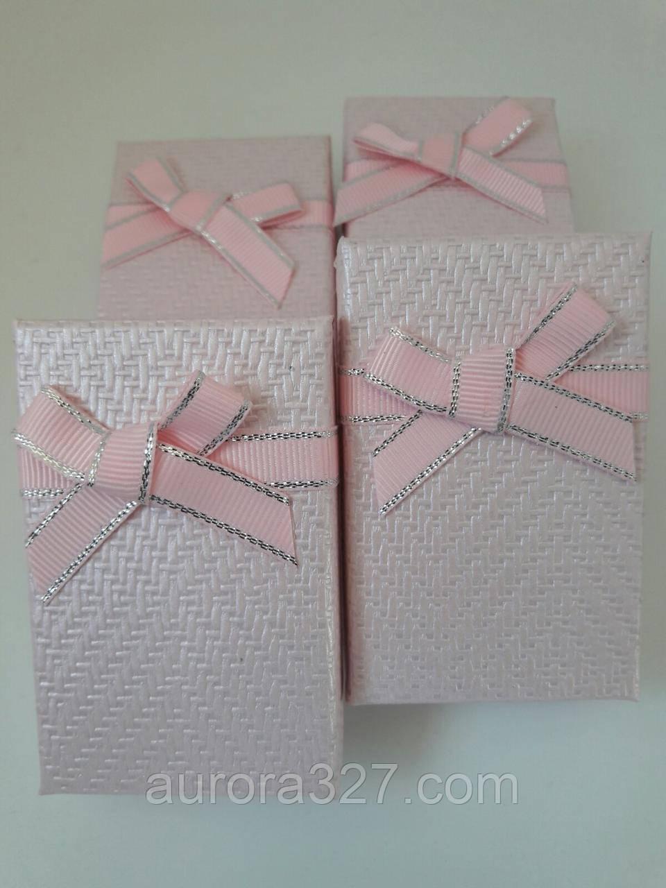 "Коробочка подарочная картонная ""Плетенка"" Розовый 5х8х3см"