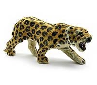 Леопард из кожи и меха 45х15х9см (18698)
