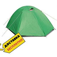 Палатка туристическая для рыбалки 3 местная с тентом Палатка летняя универсальная Zelart Зеленый (СПО SY-007)