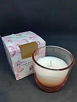 Свечи ароматизированные в стакане Bispol Польша Cherry blossom and Amber