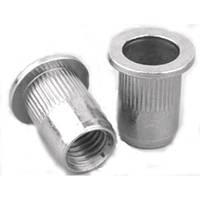 Заклепка резьбовая (гайка клепальная) М6 рифленая сталь, стандартный бортик (100шт)