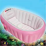 Надувная ванночка Intime Baby Bath Tub розовая, фото 3
