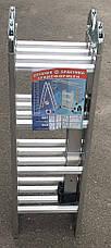 Лестница трансформер, шарнирная, алюминиевая ПРАКТИКА 4х4, фото 3
