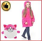 Детский плед худи-трансформер Huggle Pets, детская толстовка с капюшоном, фото 2