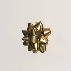 Бантик  5 см, диаметр золото